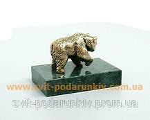 Бронзовая статуэтка Медведь, памятный сувенир, фото 2