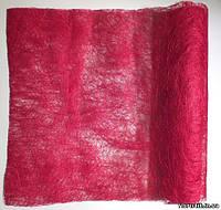 Сизаль в рулоне вишневая