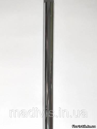 Пленка для декоративной упаковки металлик СЕРЕБРО,  60 см. х 12 м., 30 мкм.