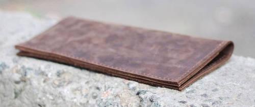 Практичное портмоне из натуральной кожи GBAGS W013 коричневый