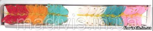 Бабочки на проволоке №001 (набор - 24 шт.)