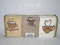 Набор махровых кухонных полотенец Philippus Кофе-фрукты в мягкой упаковке 6 шт 30х50
