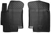 Полиуретановые передние коврики для Kia Rio II (JB) 2006-2010 (AVTO-GUMM)