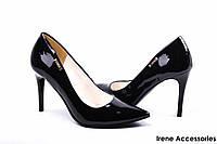 Туфли женские черные на шпильке Польша ZanZara