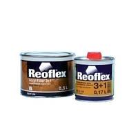Акриловый грунт 3+1 Reoflex белый (0,5 л) + отвердитель для грунта 3+1 (0,17 л)