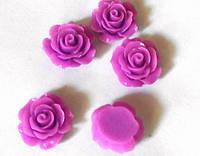 Роза пластиковая 1,8 см фиолетовая