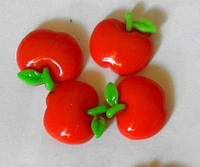 Серединка пластиковая яблоко 1,7 см красная