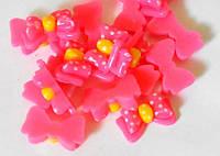 Серединка пластиковая 2,4 см розовая