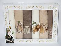 Подарочный набор кухонных полотенец в коробке Hamdi Hurrem Sultan 6 шт 40x60