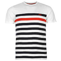 Футболка Lee Cooper C Yarn Dye Crew Neck Tshirt Mens