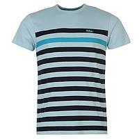 Футболка Lee Cooper C Yarn Dye Crew Neck Tshirt Mens