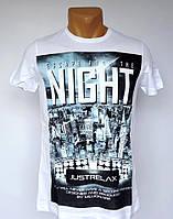 Белая футболка Escape from the Night - №1394