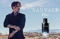 Johnny Depp и Sauvage от Christian Dior. Мужская новинка от Диор.