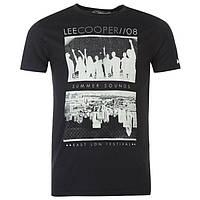 Футболка Lee Cooper Print Summer T Shirt Mens