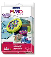 Подарочный набор для лепки стартовый Фимо Софт FimoSoft Cool Colours -веселые цвета (6 штук)