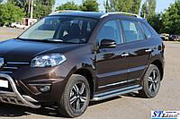 Боковые пороги для Renault Koleos 2015+ d:42 ST Line