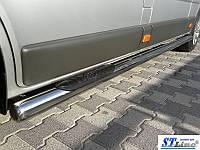 Боковые пороги для Renault Trafic 2001+Short ST Line