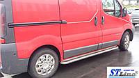 Боковые пороги для Renault Trafic 2001+Short d:60 ST Line