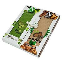 Подарочный набор кухонных полотенец в коробке Nilteks Books 2 шт 45x65, фото 1