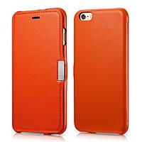 Чехол книжка iCarer для iPhone 6/ 6S Luxury Orange