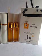 Подарочный набор женский CHANEL №5 (Шанель №5) 3 по 15 мл