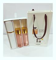 Подарочный набор женский Coco Mademoiselle Chanel (Коко Мадемуазель Шанель) 3 по 15 мл