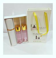 Подарочный набор женский Gucci Eau de Parfum II (Гуччи Парфюм 2) 3 по 15 мл