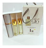 Подарочный набор мужской Giorgio Armani Armani Acqua di Gio Pour Homme (Аква ди Джио Хомм) 3 по 15 мл
