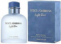 Мужская туалетная вода Dolce & Gabbana Light Blue Pour Homme (Дольче Габбана Лайт Блю Пур Хом) 75 мл