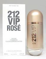 Тестер женской парфюмерной воды Carolina Herrera 212 VIP Rose (Каролина Эррера 212 Вип Росе) 80 мл
