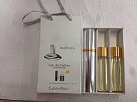 Подарочный набор женский Calvin Klein Euphoria Eau de Parfum (Кельвин Кляйн Эйфория) 3 по 15 мл
