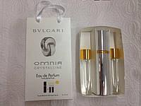 Подарочный набор женский  Bvlgari Omnia Crystalline (Булгари Омниа Кристаллин) 3 по 15 мл