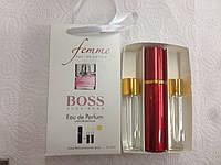 Подарочный набор женский  Hugo Boss Femme (Хьюго Босс Фемм) 3 по 15 мл