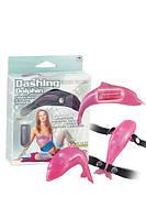 """Клиторальный вибратор-стимулятор """"дельфин"""" Dashing Dolphin Pink (1610011684)"""