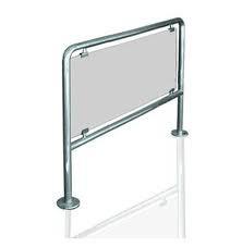 Ограждение стационарное со стеклом, н/ж сталь полированная