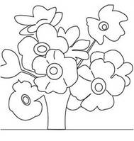 Холст с контуром 'Полевые цветы' (30см*30см) с красками