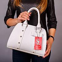 Белая лаковая сумочка женская питон №1339wr