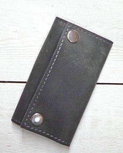 Обворожительная ключница из натуральной кожи GBAGS A.0003 серый