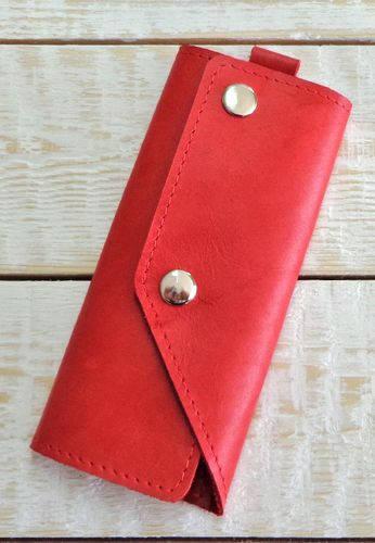 Неординарная ключница из натуральной кожи GBAGS A.0005-ALI красный