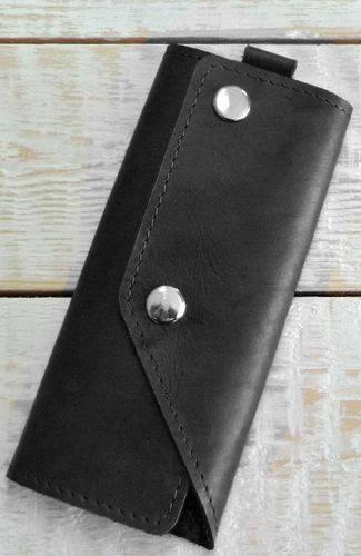 Потрясающая ключница из натуральной кожи GBAGS A.0005-CH черный