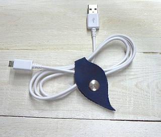 Комплект холдеров для шнуров из натуральной кожи GBAGS AH.0001-CH синий