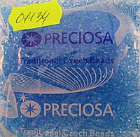 Бисер 10/0, цвет -  прозрачный из аквамаринно-голубого окрашенного стекла, №01134 (уп.50 грамм)