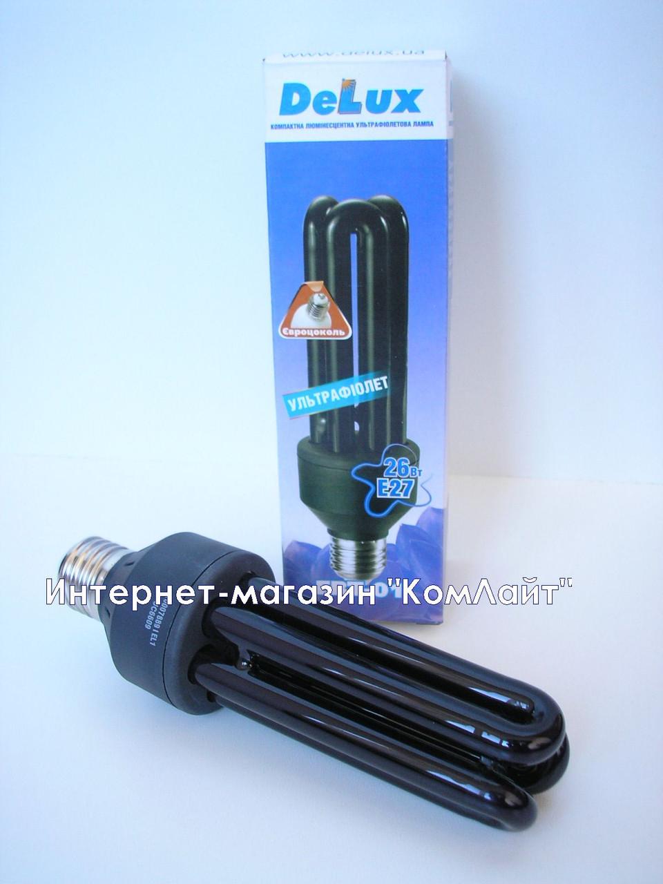 Ультрафиолетовая лампа DELUX EBT-01 26W Е27 (Китай)