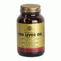 Жир из печени норвежской трески-источником ПНЖК омега 3, витаминов А и D.(100капс,,США)
