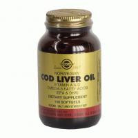 Жир из печени норвежской трески (Cod Liver Oil)-   (100капс,Солгар,США)