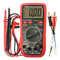 Цифровой мультиметр тестер  VC61A  измерение температуры и емкости, фото 1