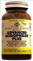 Ацидофилус плюс - пробиотик,источник бифидо- и лактобактерий (60капс,Солгар,США)