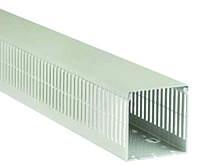 Короб 20х20 перфорированный 4х5 серый не поддерживает горение 2 метра Electro