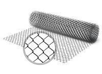 """Сетка """"Рабица"""" черная, ячейка 30х30х1,7 мм, рулон 1,2 м х 10 м"""