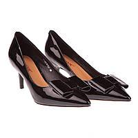 Стильные женские туфли Deenoor (лаковые, весенние, летние, на низком каблуке, с красивым бантом